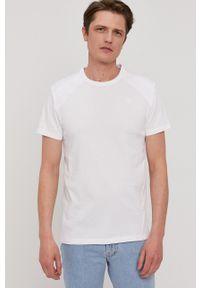 G-Star RAW - G-Star Raw - T-shirt. Okazja: na co dzień. Kolor: biały. Materiał: dzianina. Wzór: gładki. Styl: casual