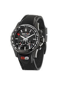 Czarny zegarek Sector No Limits sportowy