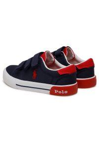 Polo Ralph Lauren - Sneakersy POLO RALPH LAUREN - Graftyn Ez RF102972 S Navy/Red. Okazja: na co dzień. Zapięcie: rzepy. Kolor: niebieski. Materiał: materiał. Szerokość cholewki: normalna. Styl: casual
