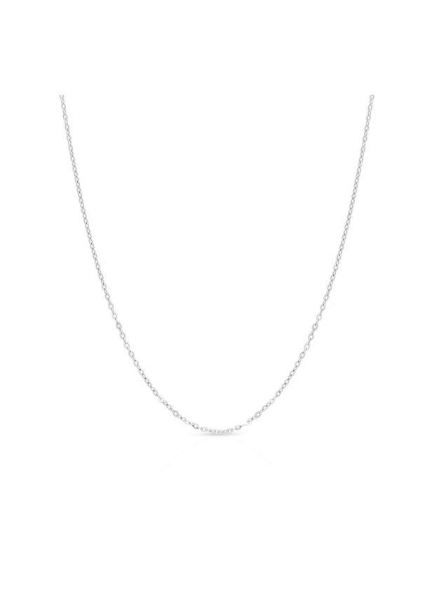 W.KRUK Wyjątkowy Srebrny Łańcuszek - srebro 925 - WWK/LS007/42R. Materiał: srebrne. Kolor: srebrny. Wzór: ze splotem, aplikacja