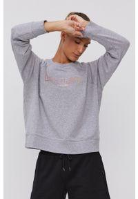 DKNY - Dkny - Bluza. Kolor: szary. Długość rękawa: raglanowy rękaw. Wzór: nadruk