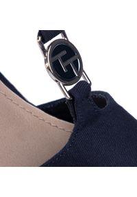 Niebieskie sandały Tom Tailor na co dzień, z aplikacjami, casualowe