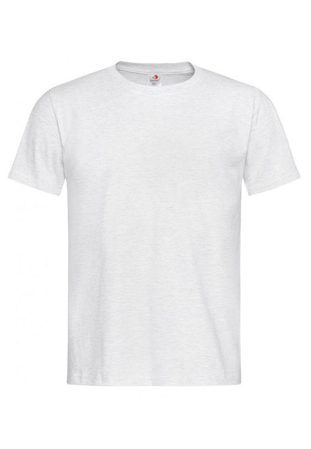 Szary t-shirt Stedman krótki, casualowy