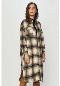 Szara sukienka only casualowa, z długim rękawem, mini