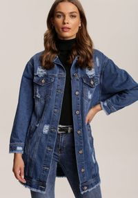 Renee - Niebieska Kurtka Lilinorin. Kolor: niebieski. Materiał: jeans, dzianina