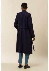 IVY & OAK - Płaszcz CHRISTINA. Okazja: na co dzień. Kolor: niebieski. Styl: klasyczny, casual
