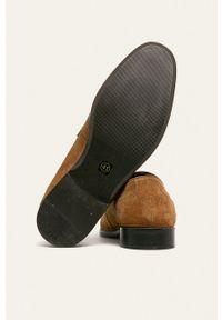 medicine - Medicine - Mokasyny skórzane Casual Utility. Okazja: na co dzień. Nosek buta: okrągły. Kolor: brązowy. Materiał: skóra. Styl: casual #3