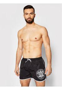 John Richmond Szorty kąpielowe Madley UMP21128CO Czarny Regular Fit. Kolor: czarny