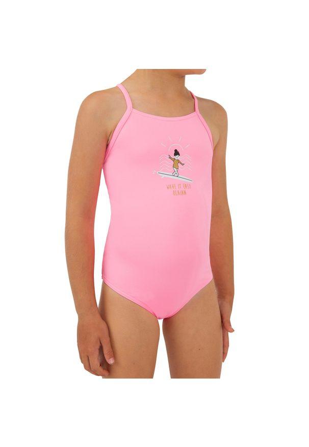 OLAIAN - Kostium Kąpielowy Jednoczęściowy Hanalei 100 Dla Dzieci. Materiał: poliester, materiał, elastan