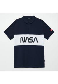 Niebieski t-shirt Cropp polo