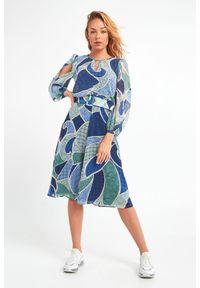 Sukienka Marella w kolorowe wzory, midi
