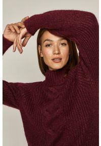 medicine - Medicine - Sweter Midnight Queen. Okazja: na co dzień. Kolor: fioletowy. Materiał: dzianina. Długość rękawa: raglanowy rękaw. Wzór: ze splotem. Styl: casual