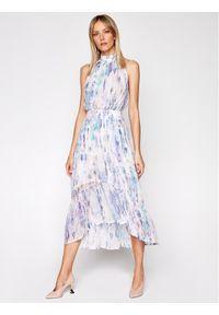 Fioletowa sukienka letnia IRO wizytowa