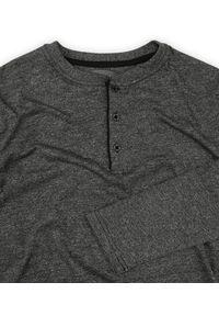 Szary t-shirt Just Yuppi casualowy, na co dzień, długi, z długim rękawem