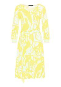 Żółta sukienka Laurèl na co dzień, prosta