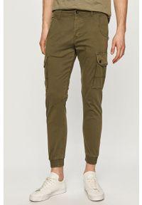 Oliwkowe spodnie PRODUKT by Jack & Jones casualowe, na co dzień, gładkie