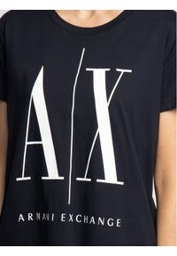Niebieski t-shirt Armani Exchange