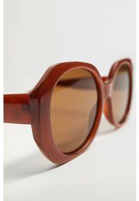 mango - Mango - Okulary CARINA. Kształt: okrągłe. Kolor: pomarańczowy