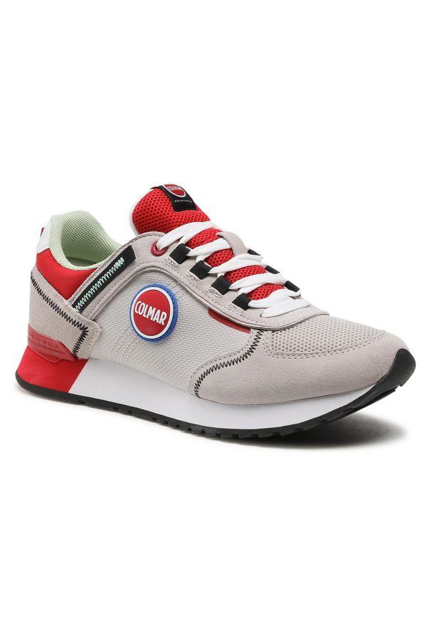 Colmar - Sneakersy COLMAR - Travis Sport Colors 038 Lt Gray/Red. Okazja: na co dzień. Kolor: szary. Materiał: skóra, materiał, zamsz. Szerokość cholewki: normalna. Styl: sportowy