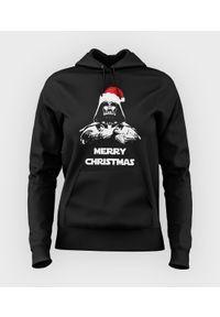MegaKoszulki - Bluza damska z kapturem Vader christmas. Typ kołnierza: kaptur