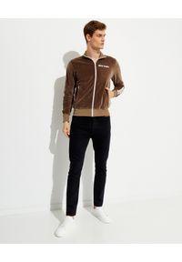 PALM ANGELS - Welurowa bluza z lampasem. Kolor: brązowy. Materiał: welur. Długość rękawa: długi rękaw. Długość: długie