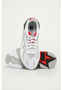 Białe sneakersy Puma z okrągłym noskiem, na sznurówki