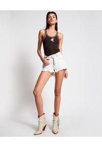 ONETEASPOON - Jeansowe szorty Bonita High Waist. Stan: podwyższony. Kolor: biały. Materiał: jeans #3
