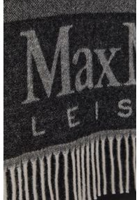 Max Mara Leisure - Poncho. Kolor: szary. Materiał: dzianina