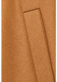 Pomarańczowy płaszcz Marc O'Polo klasyczny, z klasycznym kołnierzykiem, na co dzień