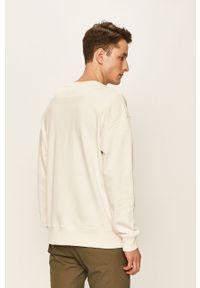 Biała bluza nierozpinana Lee bez kaptura, z aplikacjami