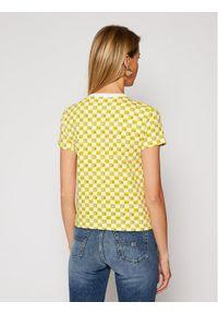 Vans T-Shirt THE SIMPSONS Check Eyes Tee VN0A4V43 Żółty Regular Fit. Kolor: żółty