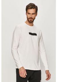 Biała koszulka z długim rękawem AllSaints casualowa, na co dzień
