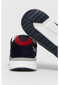 U.S. Polo Assn. - Buty. Nosek buta: okrągły. Zapięcie: sznurówki. Kolor: niebieski. Materiał: guma, syntetyk, materiał, skóra, zamsz. Szerokość cholewki: normalna #3