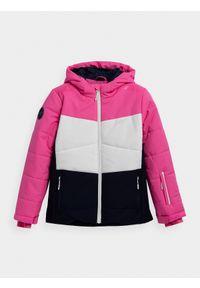 Wielokolorowa kurtka narciarska 4f z nadrukiem, na zimę