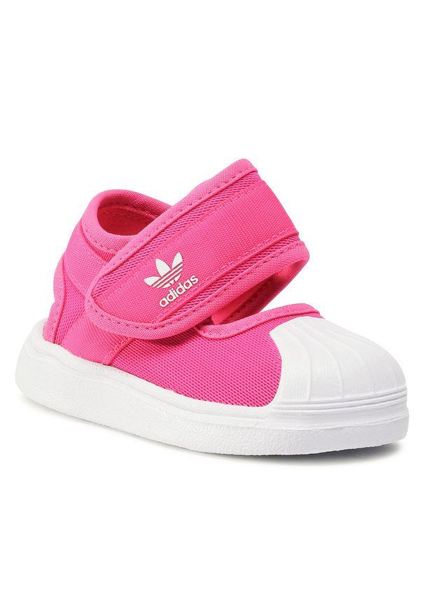 Różowe sandały Adidas na lato