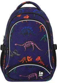Incood Plecak trzykomorowy Dinozaury niebieski. Kolor: niebieski