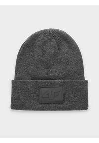 Szara czapka zimowa 4f melanż