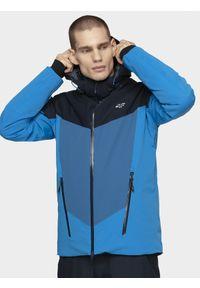 Wielokolorowa kurtka narciarska 4f na zimę, Primaloft, z kapturem