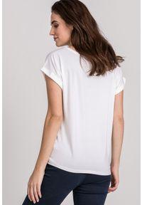 Biały t-shirt Monnari z krótkim rękawem, krótki