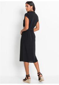 Czarna sukienka bonprix koszulowa