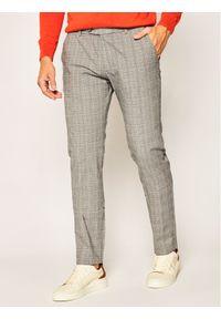 Bugatti Spodnie materiałowe 4890 56337 Szary Modern Fit. Kolor: szary. Materiał: materiał