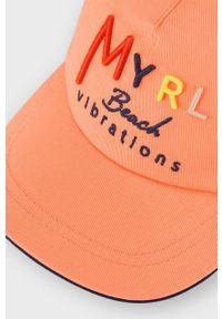 Pomarańczowa czapka z daszkiem Mayoral z aplikacjami