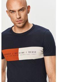 Niebieski t-shirt Tom Tailor Denim na co dzień, casualowy