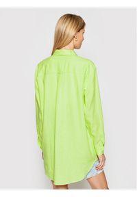 Tommy Jeans Koszula Long DW0DW09759 Zielony Relaxed Fit. Kolor: zielony