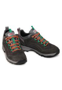 Szare buty trekkingowe Olang z cholewką