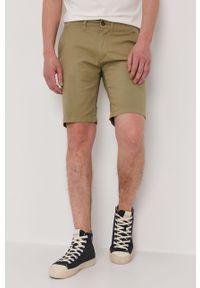 Zielone szorty Pepe Jeans na co dzień, gładkie, casualowe