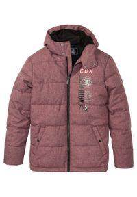 Czerwona kurtka bonprix na zimę, melanż