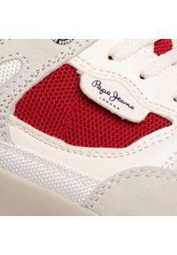 Białe sneakersy Pepe Jeans z cholewką, na co dzień