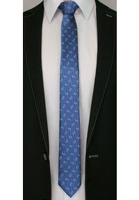 Niebieski krawat Alties paisley, klasyczny