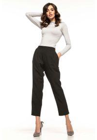 Czarne spodnie z wysokim stanem Tessita eleganckie